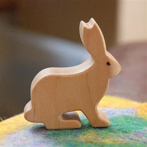 rabbit woodworking carved wooden rabbit bunny jackrabbit handmade animal