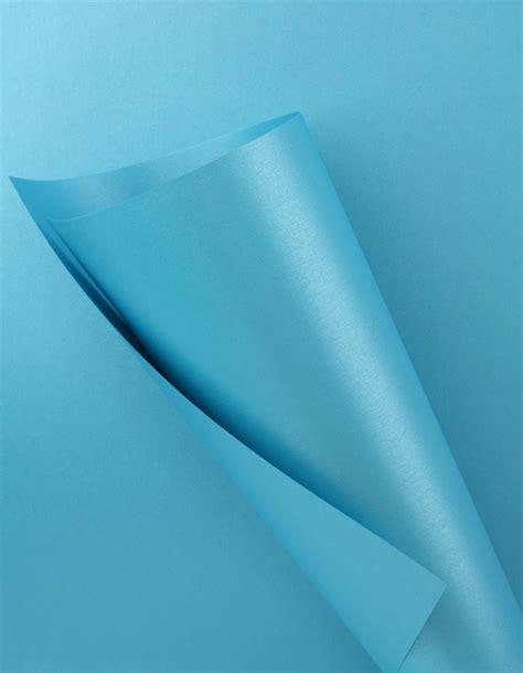 blue craft paper pearlescent paper blue 120gsm wl coller ltd