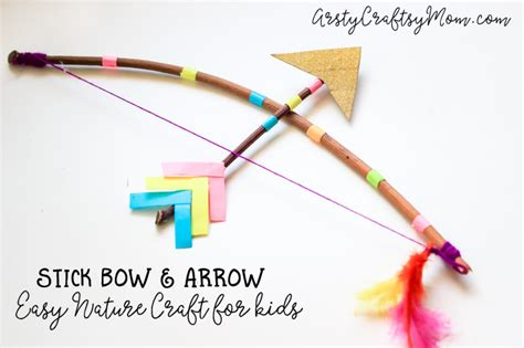 Stick Bow And Arrow Craft For Artsy Craftsy