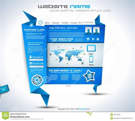origami websites for origami website design stock images image