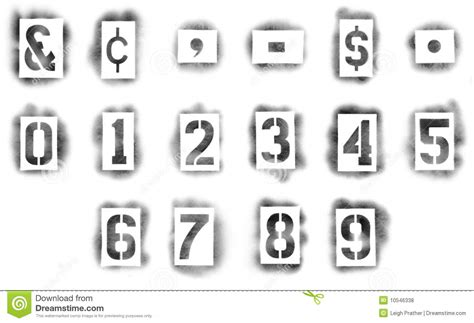 spray paint font numbers stencils in spray paint royalty free stock photos image