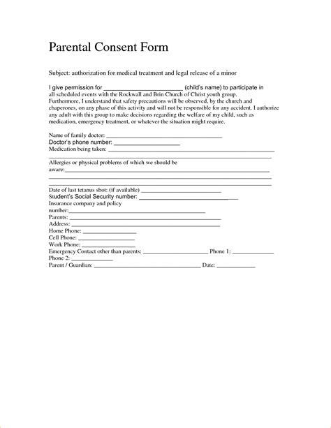 child medical consent form for grandparents anuvrat info