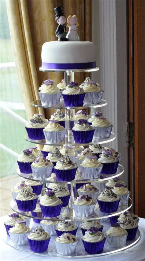 Purple Wedding Cupcake Tower at Brampton Golf Club ? from the sweet kitchen