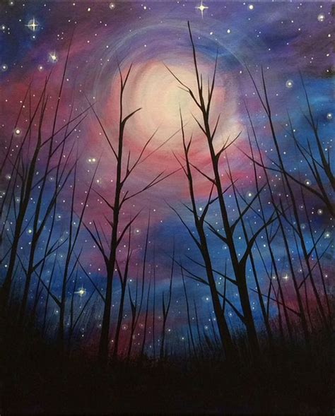paint nite delaware starry nights inspiration and bar on