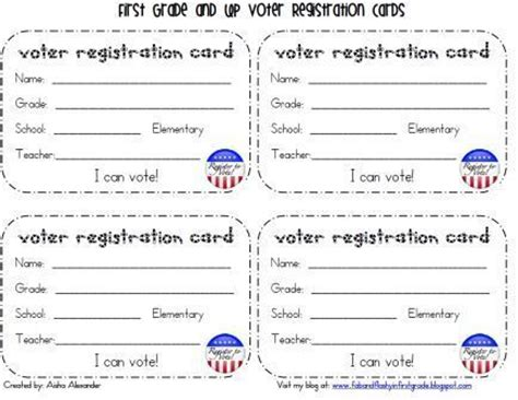 how to make voter card quot fab quot and flashy in grade presidental election goodies