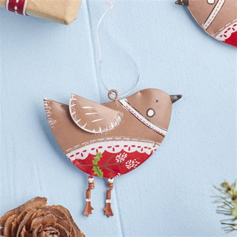 tin tree decorations tin robin tree decoration by the home