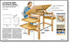 drafting table plans free a drafting table for shop or home finewoodworking