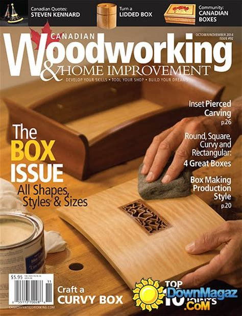 woodworking at home magazine canadian woodworking home improvement 92 october