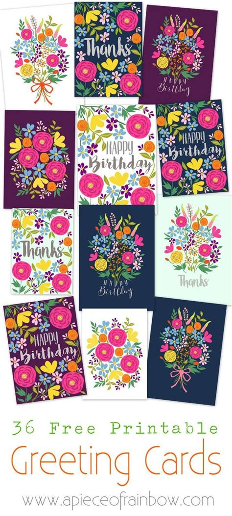 make my own greeting cards free printable beautiful floral and birthdays on