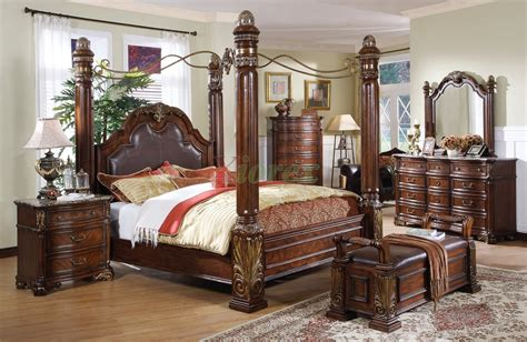 bed bedroom sets canopy bed sets bedroom furniture sets w poster canopy