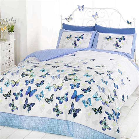 butterfly bed sets butterfly bedding reversible polka dot cotton rich
