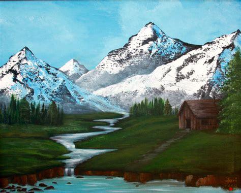 acrylic painting mountains items similar to mountain landscape acrylic painting