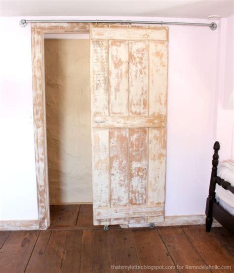 diy hanging door remodelaholic diy sliding barn door inexpensive hardware