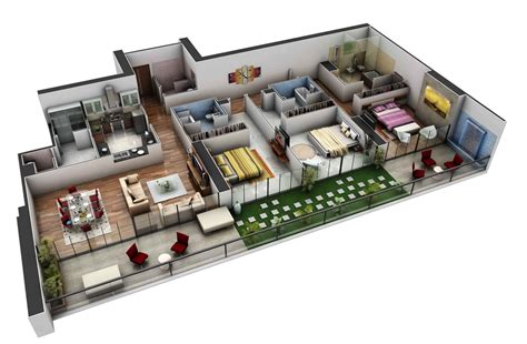 3 bedroomed house designs 3 bedroom apartment house plans