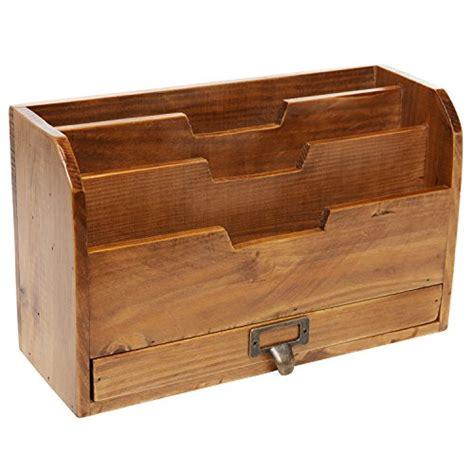 desk organizer sorter 3 tier country rustic vintage wood office desk file