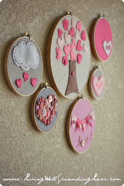embroidery crafts projects the day it rained hearts on diy s