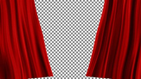 red curtains open by art siberia videohive