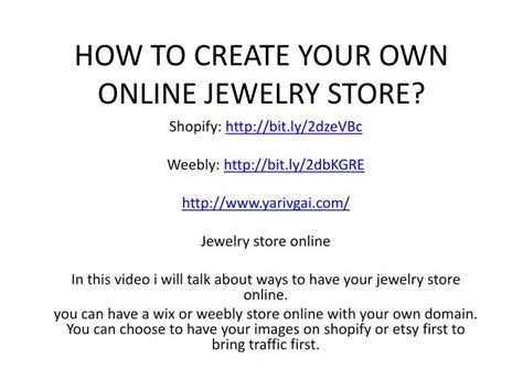 how to start your own jewelry ppt how to create your own jewelry store