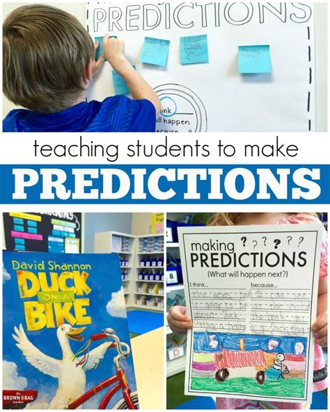 picture books for predictions predictions 1st grade read aloud the brown bag