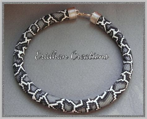 bead crochet rope snake beaded crochet necklace discussion and several