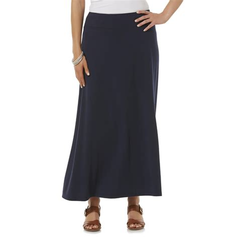 womens knit skirts basic editions s knit maxi skirt