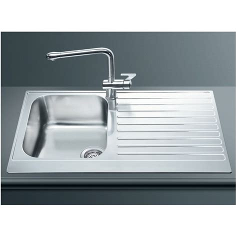 smeg kitchen sinks available the smeg lpd861d kitchen sink 1 bowl piano design stainless