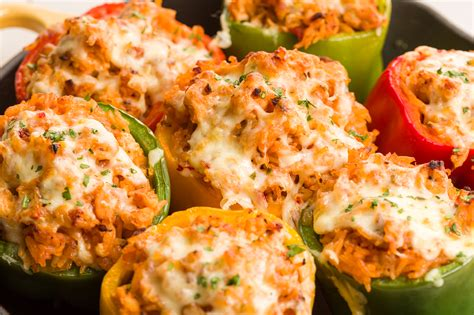 food recipes for best ground turkey stuffed peppers recipe how to make
