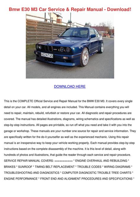 service manual download car manuals pdf free 1996 bmw m3 free book repair manuals service