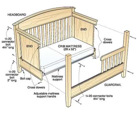 Baby Crib Woodworking Designs Plans Free