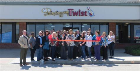 paint with a twist o fallon painting with a twist holds ribbon cutting at shiloh