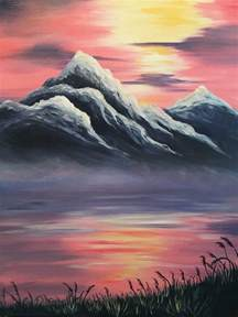 how to draw with acrylic paint on canvas best 25 mountain paintings ideas on paintings