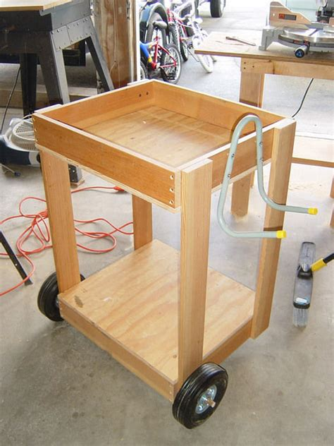 woodworking cart air compressor cart from scrap wood by pete santos