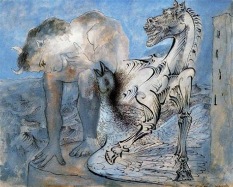 picasso paintings of horses pablo picasso faun and bird 1936