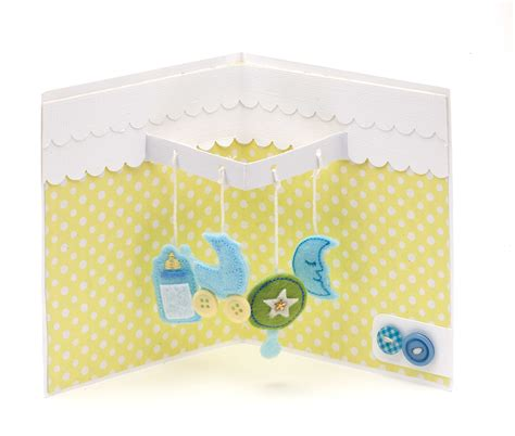 Card Ideas For New Baby Baby Mobile Pop Up
