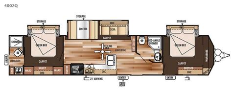 2 bedroom travel trailer floor plans bunkhouse floor plans travel trailers 2017 2018 best