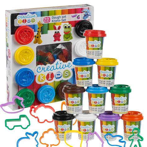 Diy Clothing Storage 22 piece play dough craft gift set tubs amp shapes children