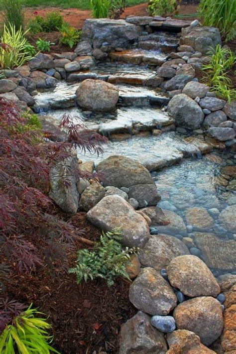 backyard rock garden 25 best ideas about river rock gardens on