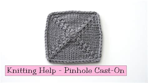 knit help knitting help pinhole cast on funnydog tv