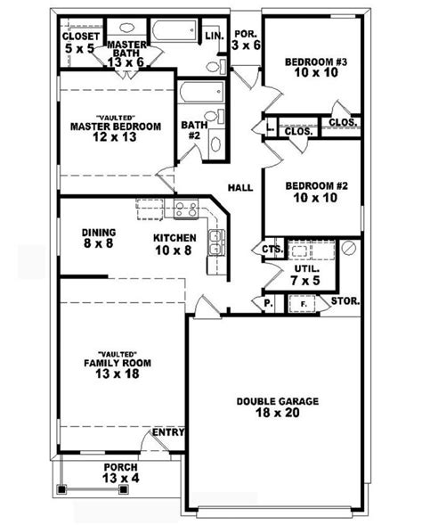three bedroom two bath house plans small 2 story 3 bedroom house plans home deco plans