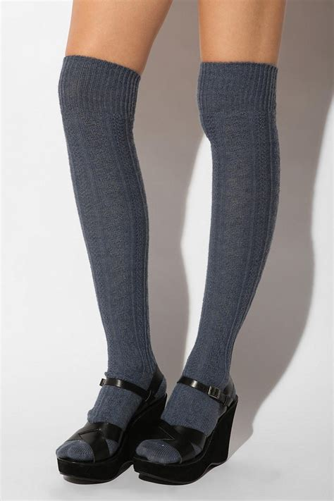 cable knit knee socks cable knit the knee sock