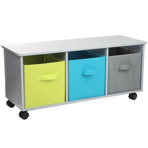 meuble bas de rangement 224 color 233 structure en bois et panier en tissus les meubles de