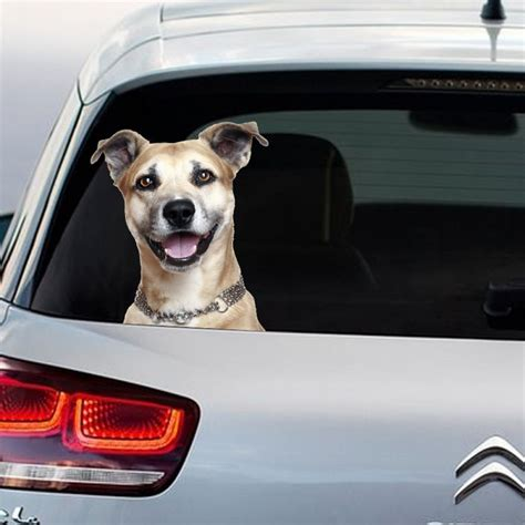 Mickey Mouse Wall Stickers dog peeking full colour vinyl decal window sticker car