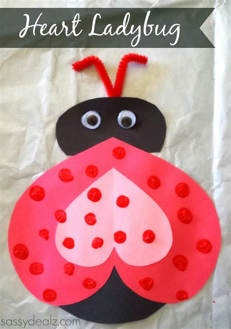 valentines day arts and crafts for ladybug valentines day craft for crafty morning