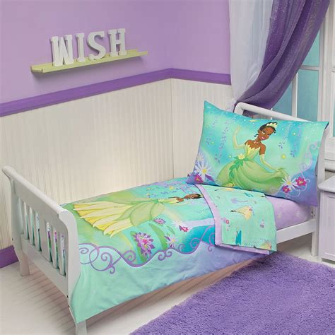 princess and the frog crib bedding 4pc disney princess frog toddler bed set purple