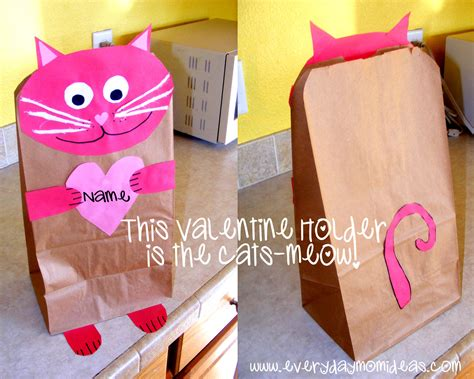paper craft valentines valentines day crafts with paper bags