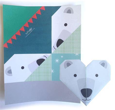 winter origami origami notepaper set winter by lollipop designs