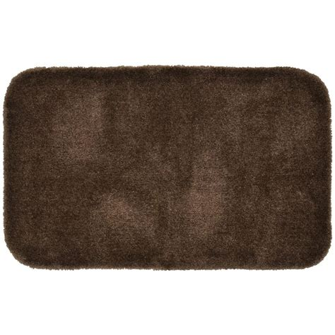 bathroom accent rugs finest luxury chocolate 24 in x 40 in washable bathroom