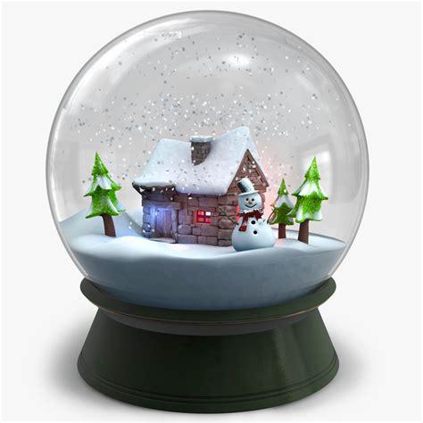 snow globe snow globe v2 3d model stock