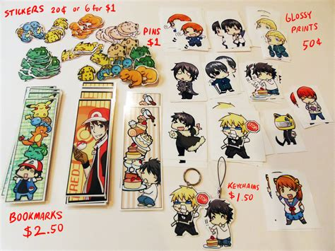anime merchandise anime merchandise bookmarks pins stickers by limebro