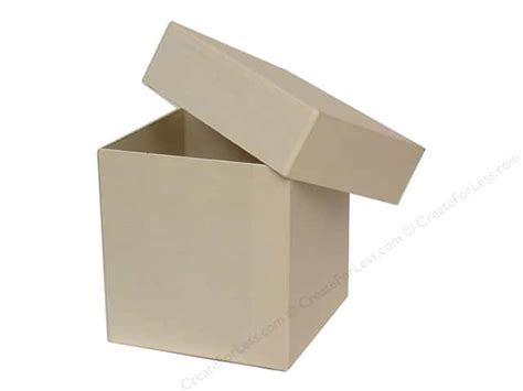 paper craft boxes paper mache square box vanilla by craft pedlars 12